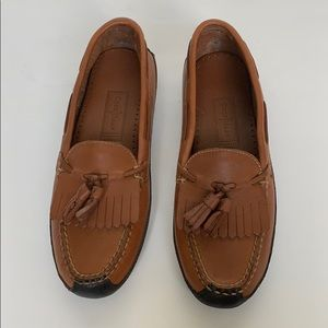 COLE HAAN Brown Leather Moccasins